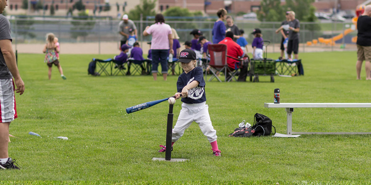 Tee Ball action at Mighty Mites